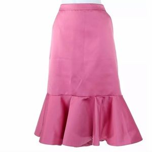J Crew Collection Fluted Skirt in Satin NEW